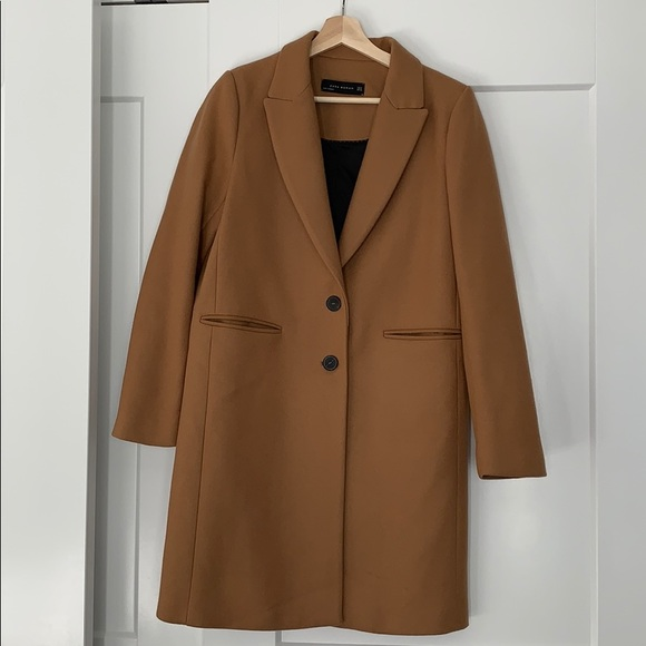 b14decfe Zara Jackets & Coats | Camel Wool Coat Sz Medium | Poshmark